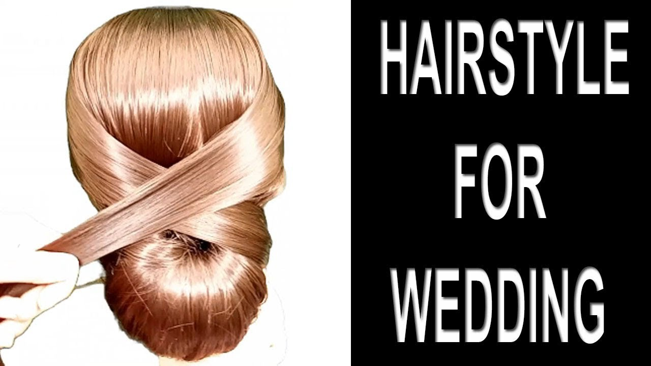 latest hairstyle for wedding function | juda hairstyle for party | beautiful simple hairstyles ...