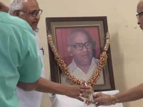 D.Ch.Tirupathi Raju Memorial Lecture 2016 by P.V.R.K. Prasad , I.A.S.,