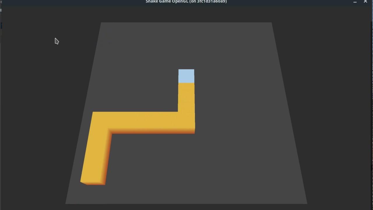 Snake game in OpenGL - 01eg art - thtip com