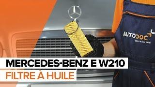 Comment remplacer des l'huile moteur et le filtre à huile sur une MERCEDES-BENZ E W210