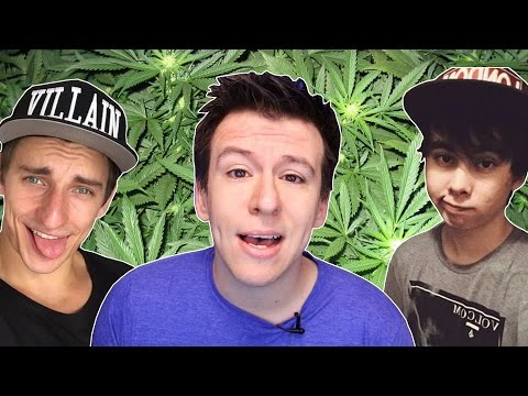 10 BIG YouTubers Who Smoked Weed (Leafy, VitalyzdTV, Philip Defranco)