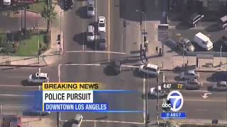 LAPD Police Chase - Stolen Honda Civic (Reckless Driving) 09/18/2013 NEW
