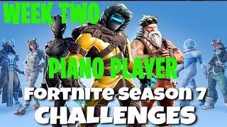 Fortnite Battle Royale | Season 7 Week 2 Challenge | Piano Sheet Music Location Guide