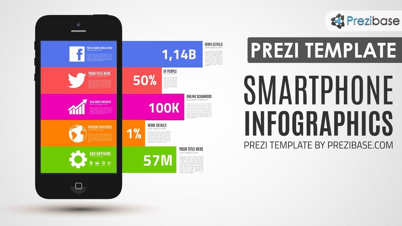 Smartphone Infographics Prezi Template | Prezibase