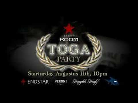 Star Room Toga Party Invite YouTube – Toga Party Invitations