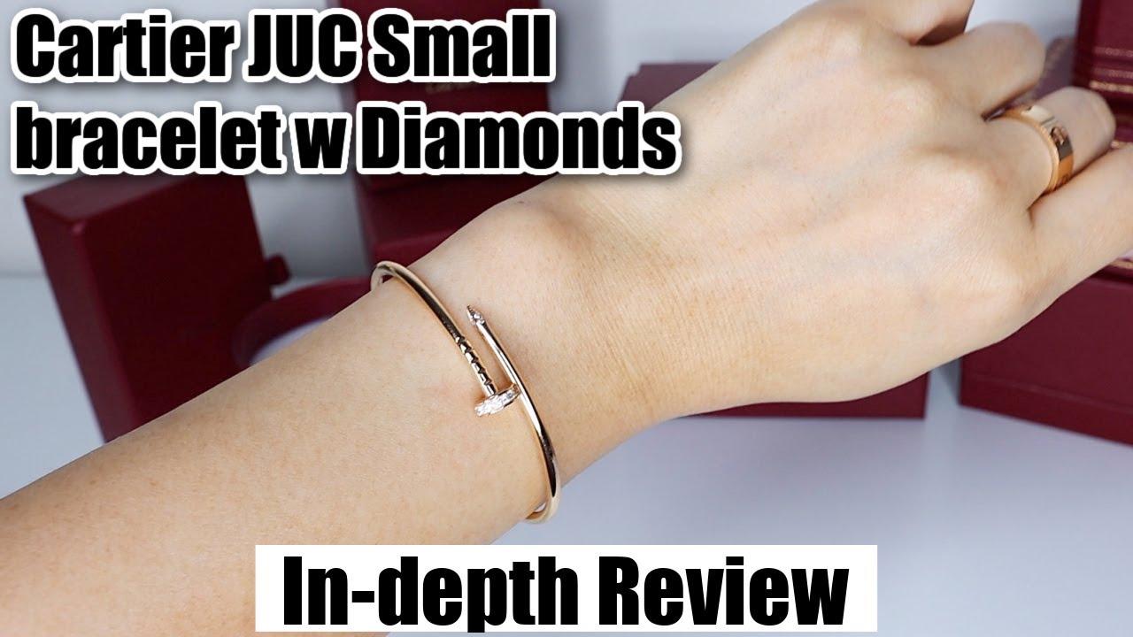 Cartier Juste Un Clou Small bracelet w diamonds Review 2021   Wear & tear, Pros & Cons
