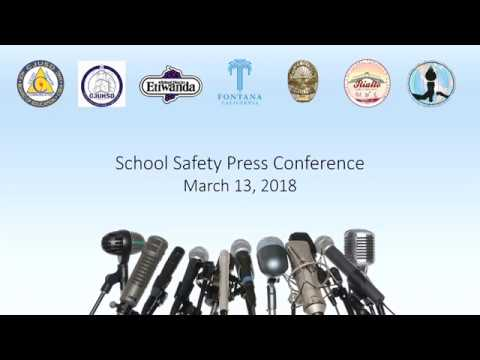 School Safety Press Conference