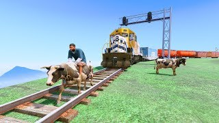 Can Franklin Stop The Train In GTA 5 8 FUNNY MOMENTS