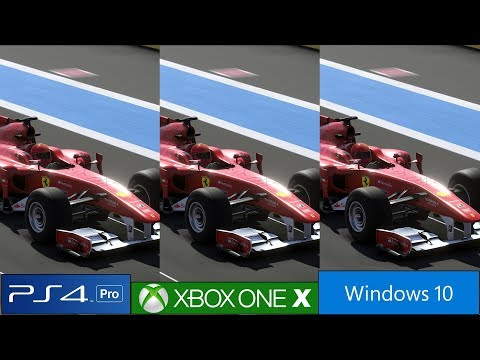 F1 2019 Ps4 Pro Vs Xbox One X Vs Pc Graphics Comparison Frame Rate Test And More 4k 60fps Youtube