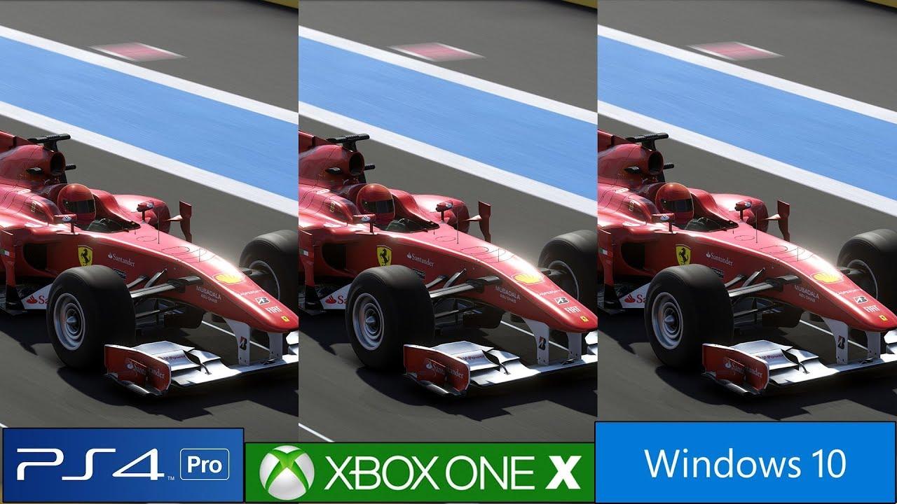 F1 2019 Tech Analysis – PS4 Pro vs Xbox One X vs PC Graphics Comparison