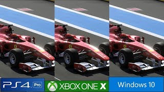 F1 2019 - PS4 Pro vs Xbox One X vs PC Graphics Comparison, Frame Rate Test And More [4K/60fps]