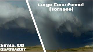 Large Cone Funnel/Tornado (P1) - North of Simla, CO - 05/08/2017