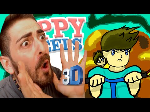 HAPPY WHEELS IN 3D (come Favij) - Guts and Glory [ita]