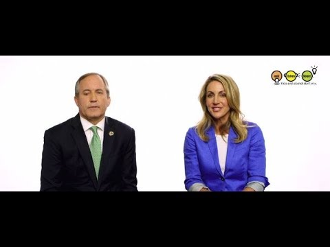 Summer Sanders and Texas Attorney General Ken Paxton