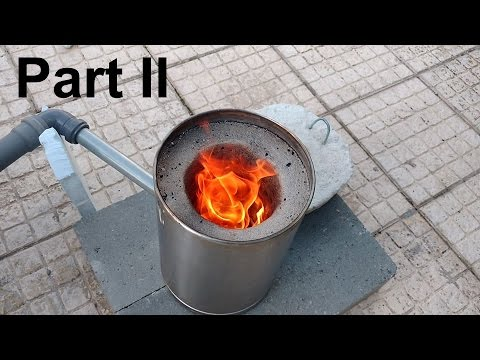 How To Make a Small Metal Furnace ( Foundry / Smelter ) - Part II