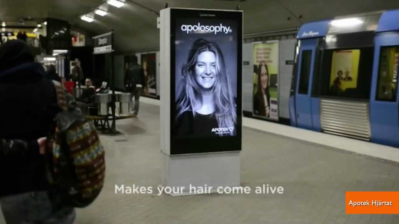 Model S Hair In Subway Ad Seems To Blow As The Train