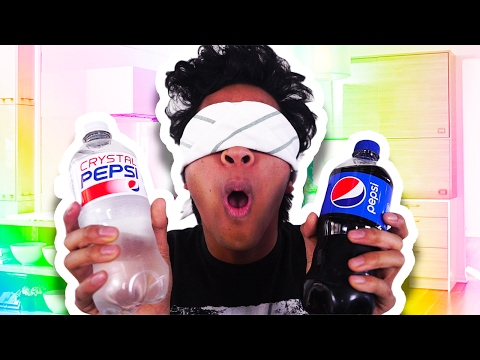 Crystal Pepsi Vs  Pepsi BLIND TASTE TEST!!!