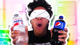 Crystal Pepsi Vs  Pepsi BLIND TASTE TEST!!!