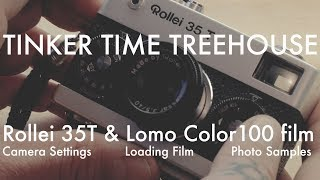 Rollei 35 T - Lomography Color 100 35mm film - loading and first images