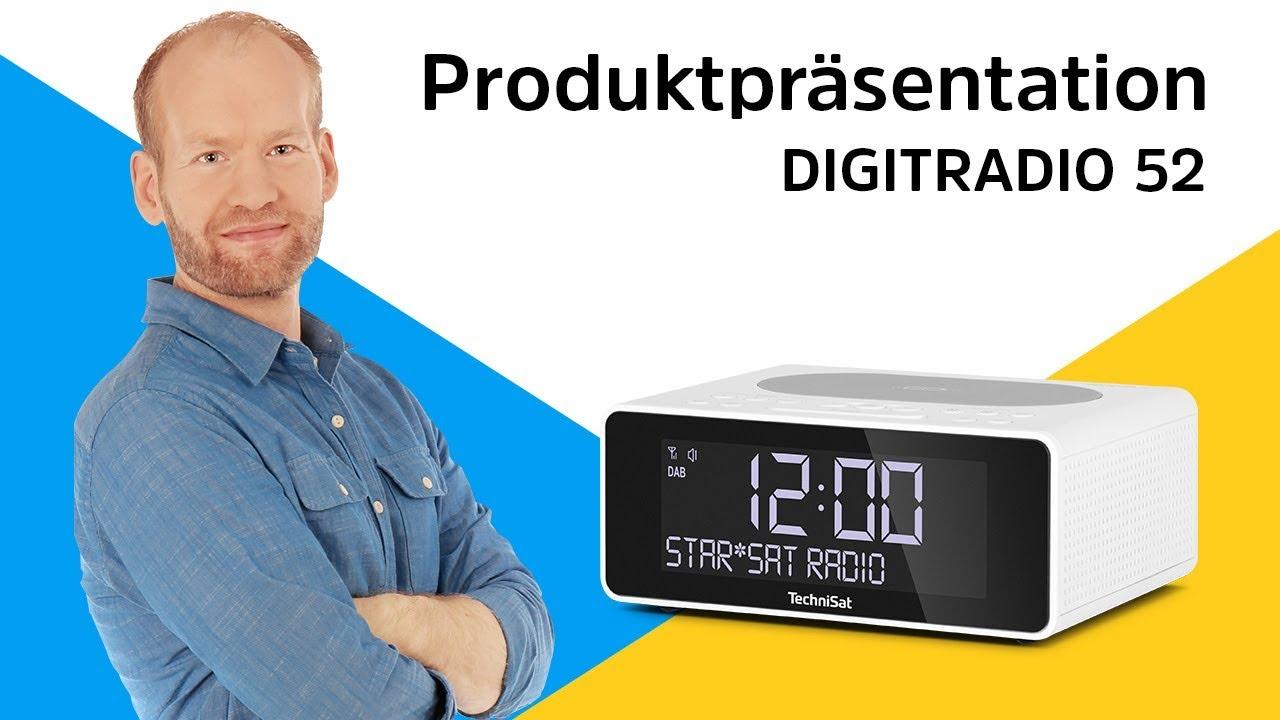 Video: DIGITRADIO 52 | Uhrenradio mit praktischer Wireless-Charging-Fläche. | TechniSat