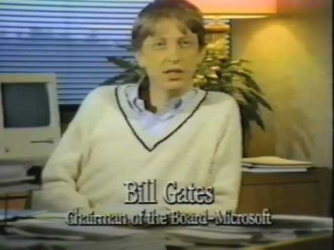 Macintosh 1984 Promotional Video -  with Bill Gates!