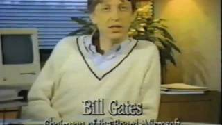 Macintosh 1984 Promotional Video -  with Bill Gates! | Video