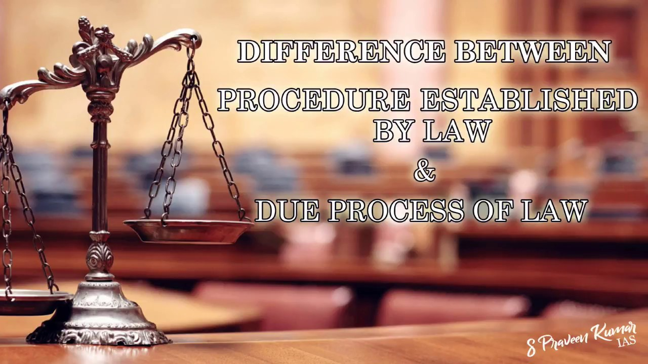 Difference Between Procedure Established by Law & Due Process of Law |  Learn in 1 minute
