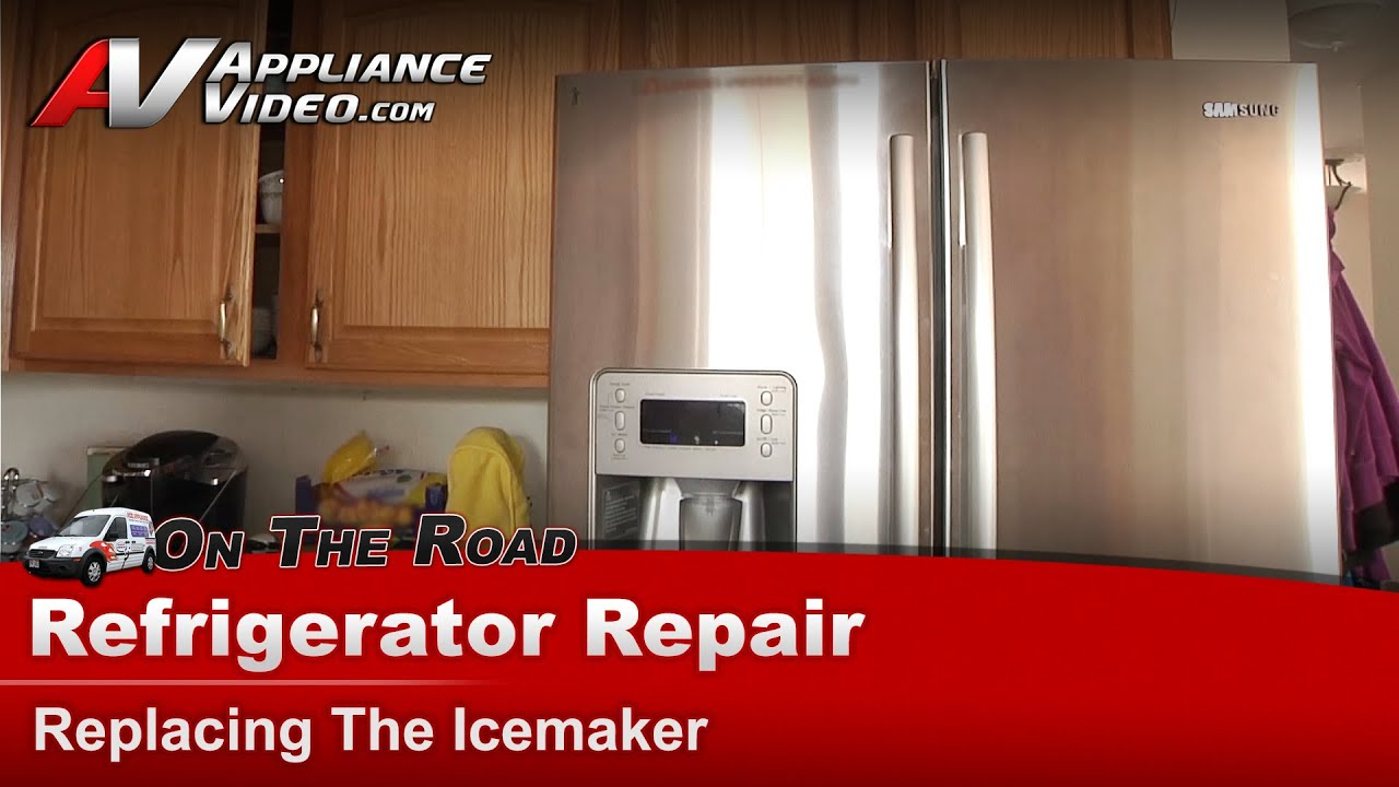 Samsung Refrigerator Repair Replacing The Ice Maker
