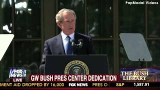 Full Dedication Ceremony at the George W Bush Presidential Center-H.264 LAN Thumbnail