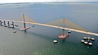 Sunshine Skyway Bridge Drive Over Roof Cam Tampa Bay Florida