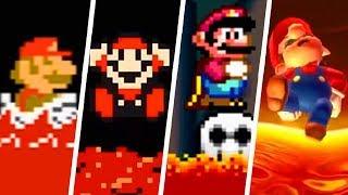 Evolution of Lava Levels in 2D Super Mario Games (1985 - 2019)