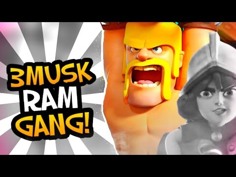 3 MUSK-RAM-GANG DECK!  - Top 200 WorldWide Gameplay (3 Crown Madness) - Clash Royale