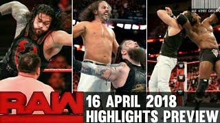 WWE Monday Night Raw 16th April 2018 Hindi Highlights Preview - Bro...