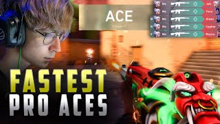 FASTEST ACES IN HISṪORY OF VALORANT   VALORANT MONTAGE #HIGHLIGHTS