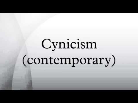 Cynicism (contemporary)