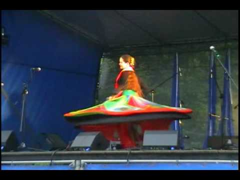 Tanoura - Egyptian Folk Dance - Whirling Skirt Dance By Lady - Sisters Shahrazad