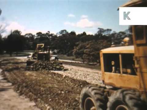1950s,1960s Canberra, Australia Construction, Builders, Archive Footage