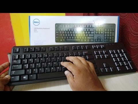 unboxing testing dell kb212 wired usb keyboard youtube. Black Bedroom Furniture Sets. Home Design Ideas