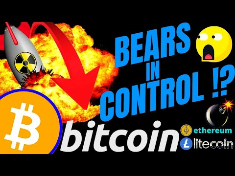 BEARS IN CONTROL OF BITCOIN LITECOIN And ETHEREUM?? Btc Ltc Eth Price, Analysis, News, Trading