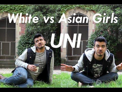 Asian Vs White Girls Uni