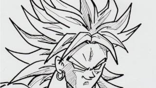 HOW TO DRAW BROLY FULL BODY by AWAXDEM 体全体 ブロリー