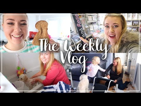 THE WEEKLY VLOG - IKEA FURNITURE, STRANDED IN MUMS SHOP, BATHING THE DOG AND BAKING - LOTTE ROACH