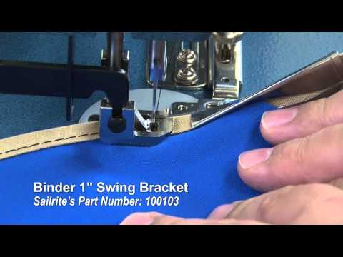 How to Work Binding Around Curves or Corners - Using a Binder Attachment on Sewing Machine thumbnail