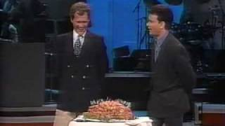 Late Night with David Letterman 8th Anniversary (NBC): Tom Hanks Cocktail Weiner Challenge
