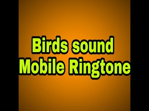 birds sound ko kaise mobile ringtone banaya