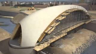 Construcción de puentes Madrid Río