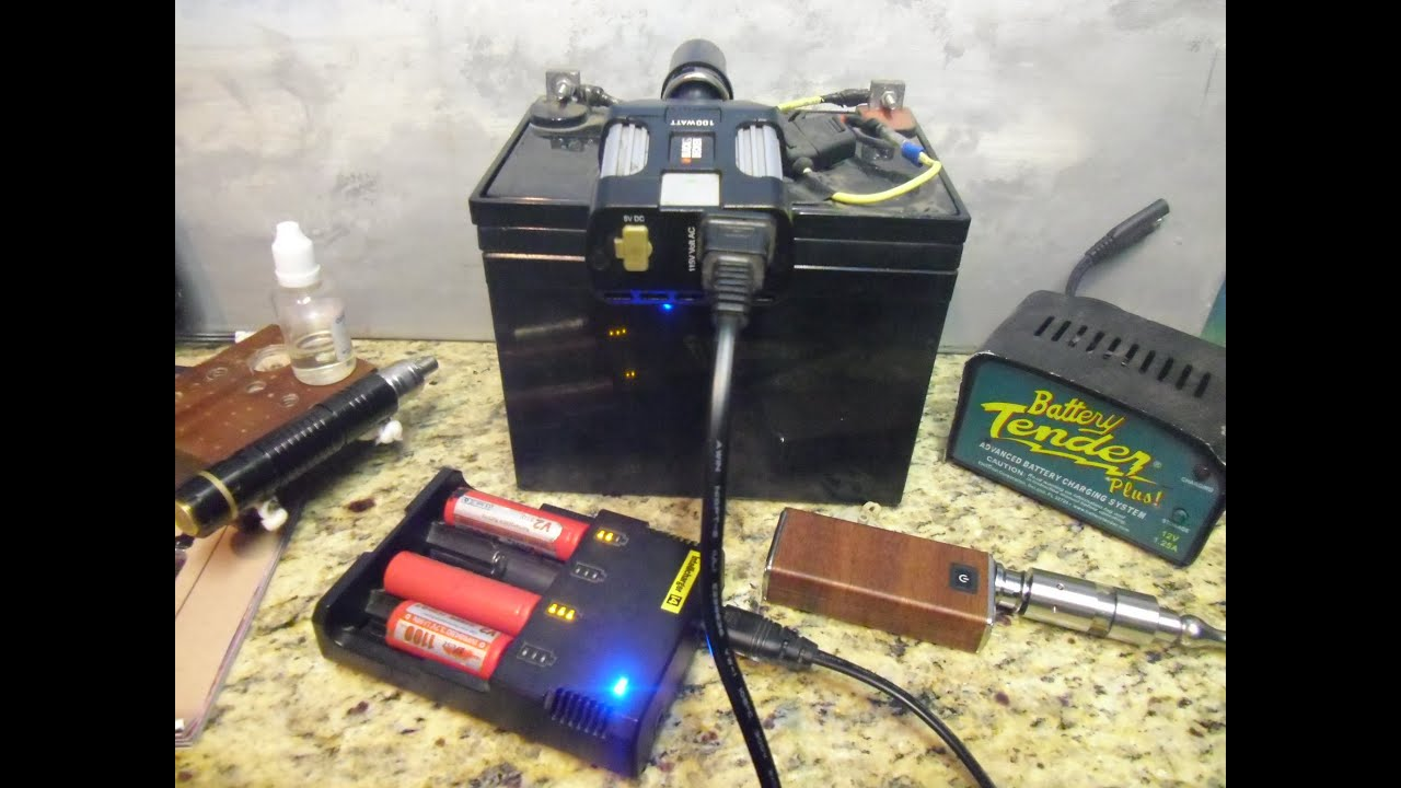 Portable Charging Station For Vape Gear Camping Emergencies Etc Youtube