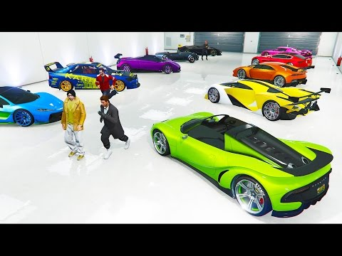 RAINBOW Garage! - Buying The Best Cars! w/ The Crew (GTA 5 P