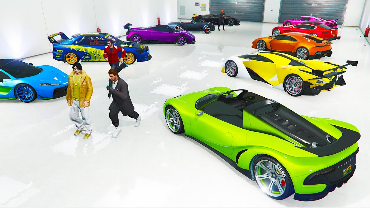Rainbow Garage Buying The Best Cars W The Crew Gta 5 Ps4 Youtube