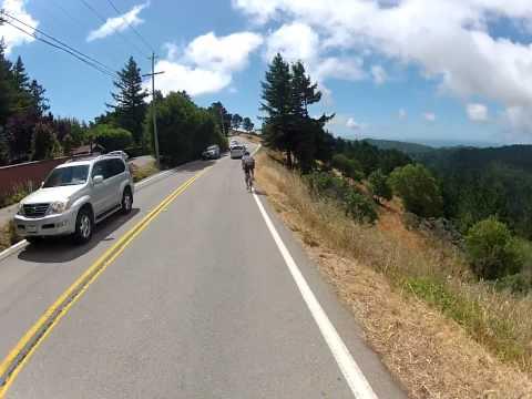 Shadow Cyclist: Down Mount Tam (Tamalpais), Marin, California